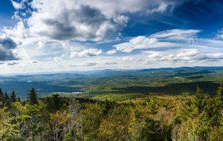 panoramic view of New Hampshire at Mount sunapee