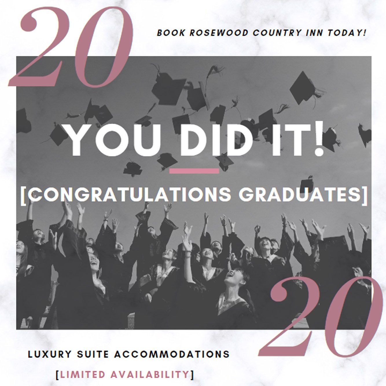 Book Rosewood Country Inn For Upcoming College Graduation Events